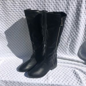 Charlotte Russe Black Faux Leather Tall Boots.